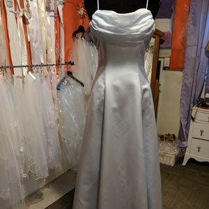 Michaelangelo blue prom bridesmaids gown